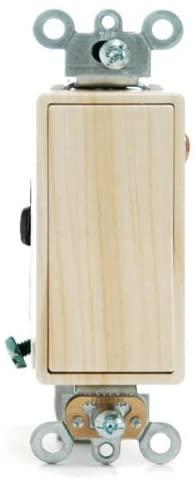 Decora-Style 15A On/Off Switch Oak Wood Finish