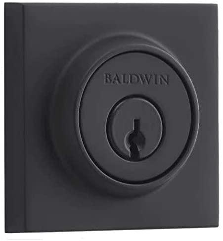 Baldwin SCCSD190 Contemporary Single Cylinder Deadbolt, Satin Black