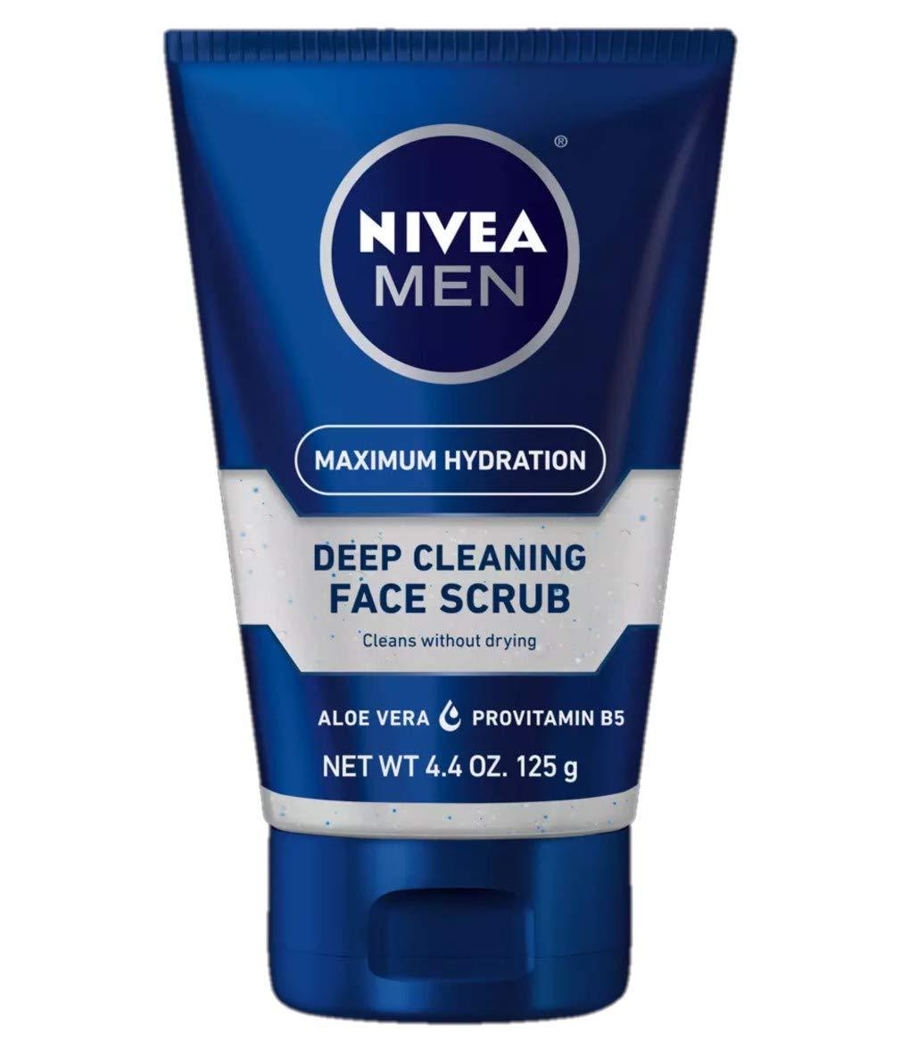 NIVEA For Men Original, Deep Cleaning Face Scrub 4.4 oz. (Pack Of 3)