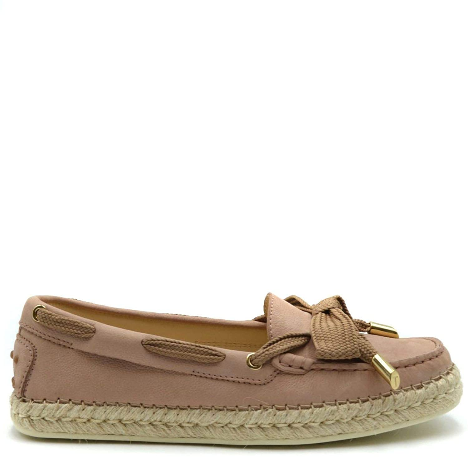 Tods Luxury Fashion Woman MCBI38933 Pink Suede Loafers | Season Outlet
