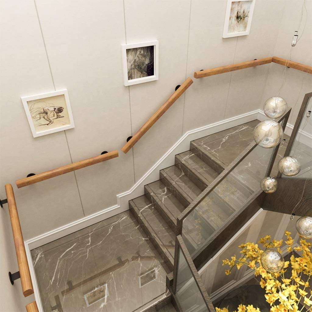 Handrail Pine Non-Slip Wood Handrails for Elderly Children Staircase Grab, for Wall Mounted Home Garden Corridor Lofts Decking Railings (Size : 150CM)
