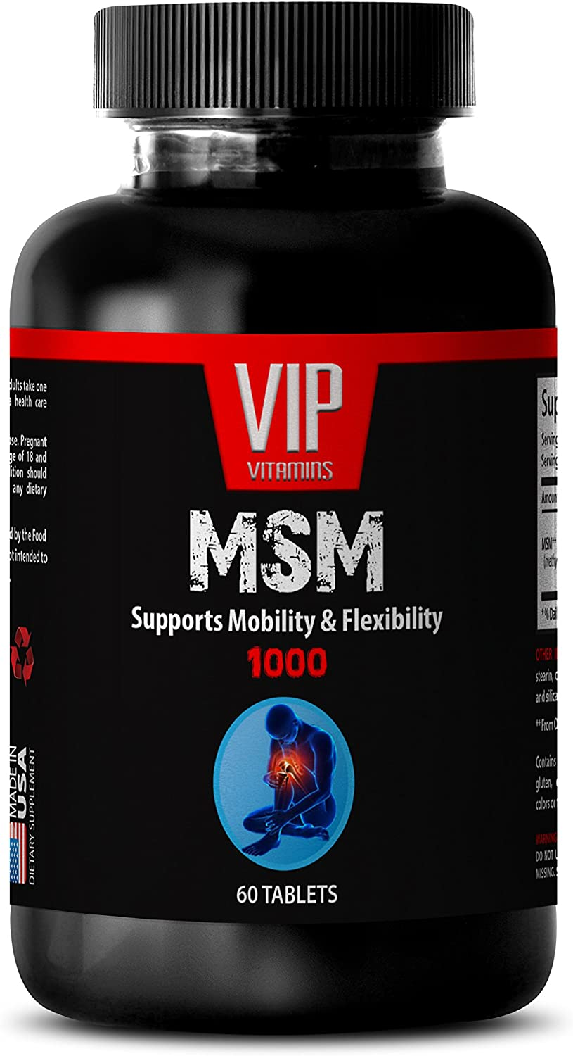 Natural Skin Care Products - MSM - MSM Supplements Natural - 1 Bottle 60 Tablets