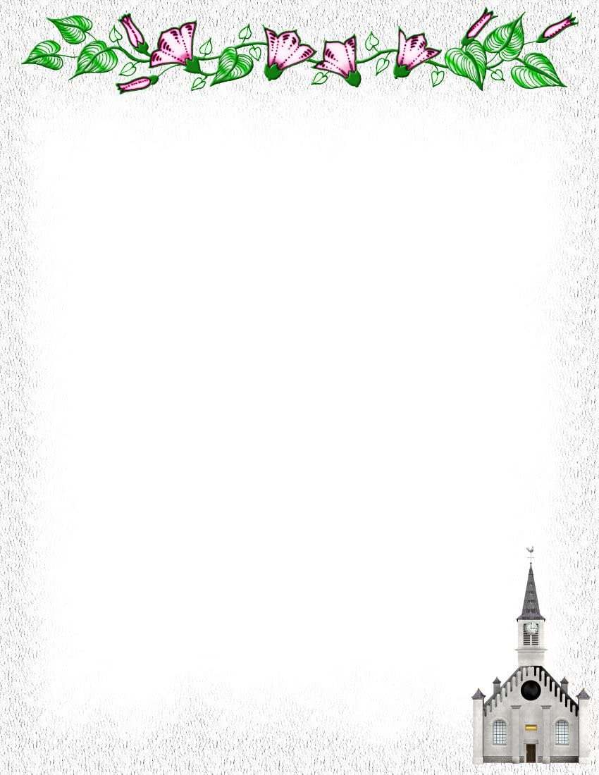 Floral Church Stationery Printer Paper 26 Sheets