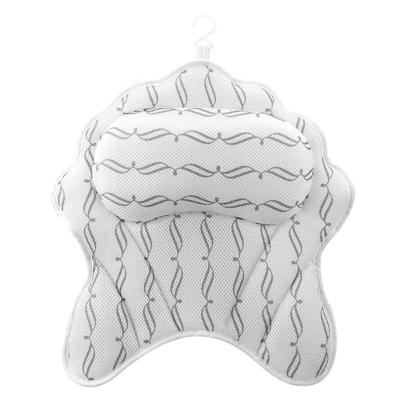 SMZCTYI Bath Pillow, Ergonomic Bath Accessories for Neck Head Back and Shoulder Support Bath pillow for Tub