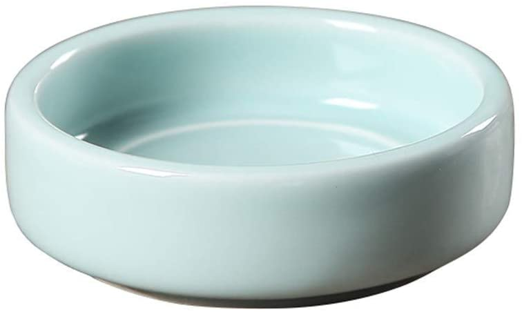 BXZ Ceramic Ashtray Chinese Retro Small Size Practical Desktop Living Room/Office Supplies Decorations/Gifts 4 Styles Available,Blue2