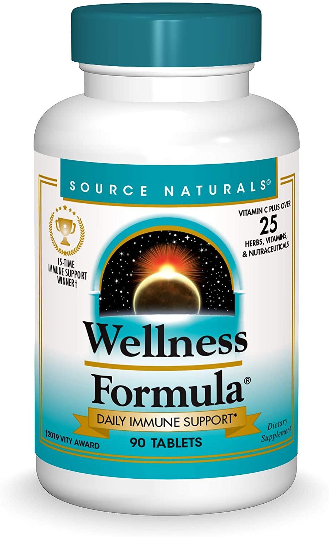 Source Naturals Wellness Formula Bio-Aligned Vitamins & Herbal Defense - Immune System Support Supplement & Immunity Booster - 90 Count