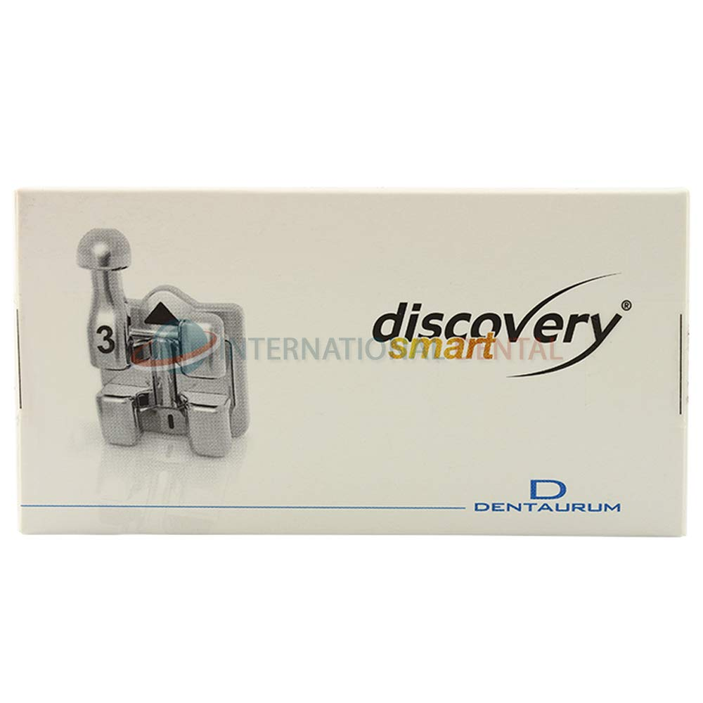 Orthodontic Dental Dentaurum Discovery Smart Metal Brackets Kit MBT #3,4,5 Hooks Braces