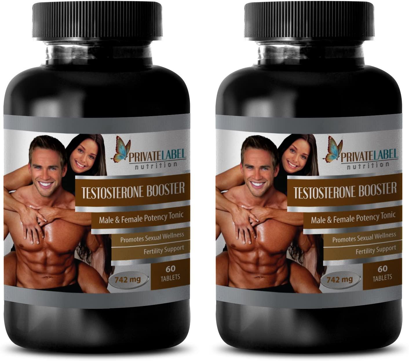 Muscle Mass Pills - Testosterone Booster 742 - Testosterone Booster for Men Fat Burner - 2 Bottles 120 Tablets