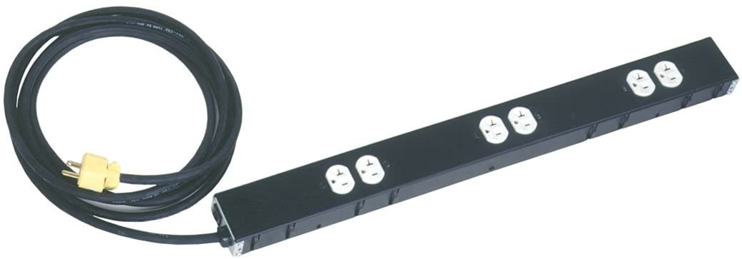 20 Amp Power Strip, Short 6 Outlet Circuit Type: Circuit Power Strip w/ Cord and Blade Plug