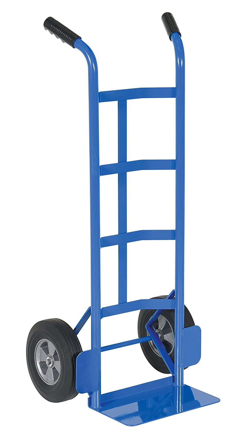 Vestil DHHT-500S-HR Steel Hand Truck with Dual Handle,Hard Rubber Wheels, 500 lbs Load Capacity, 44-1/2