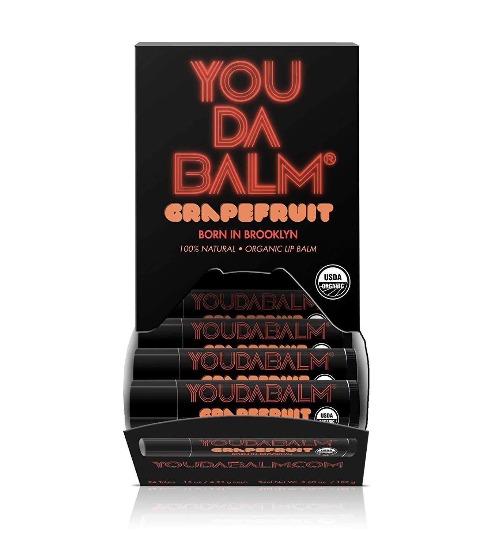 You Da Balm: Organic Grapefruit Lip Balm (24-Tube Dispenser)