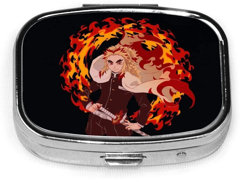 Wehoiweh Demon Slayer Kimetsu No Yaiba 2.2x1.6x0.7 Inch Mini Medicine Box, Full Size Printing is Easy to Carry