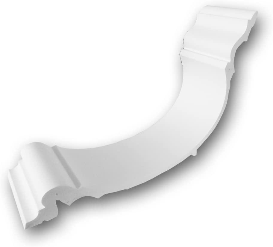Orac Decor C344 | High Density Polyurethane Foam Crown Moulding | Primed White | 4in Sample Piece