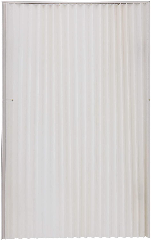 RecPro RV Pleated Folding Door 48 x 75 | Camper Folding Door | Fifth Wheel Folding Door (Ivory)