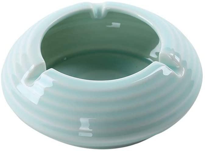 KFDQ Novelty Ashtray-Fashion Ceramic Retro Home Living Room Coffee Table Office (Color : Green),Green