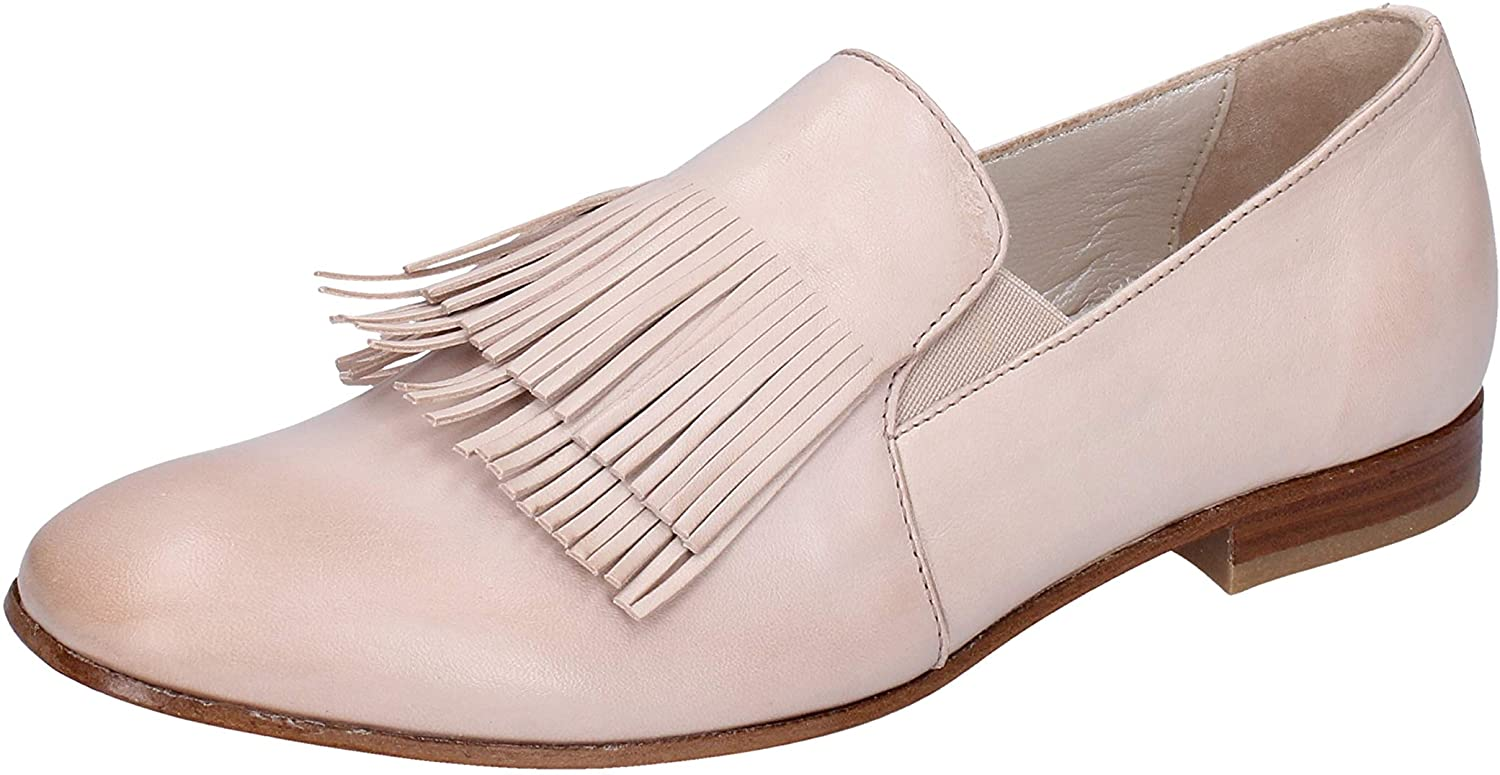TRIVER FLIGHT Loafers-Shoes Womens Leather Beige