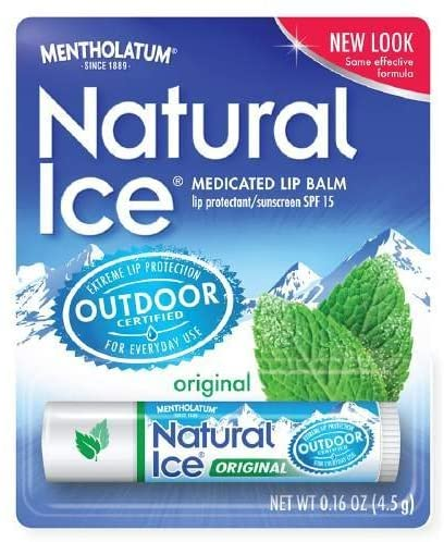Mentholatum Natural Ice Lip Balm Original SPF 15 1 Each ( Packs of 6)