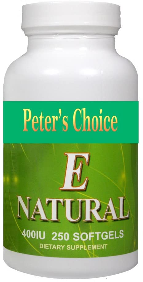 Peter's Choice, Natural Vitamin E 400IU, 250 Softgel Capsules, Antioxidant and Skin Support, Gluten Free, Made in USA