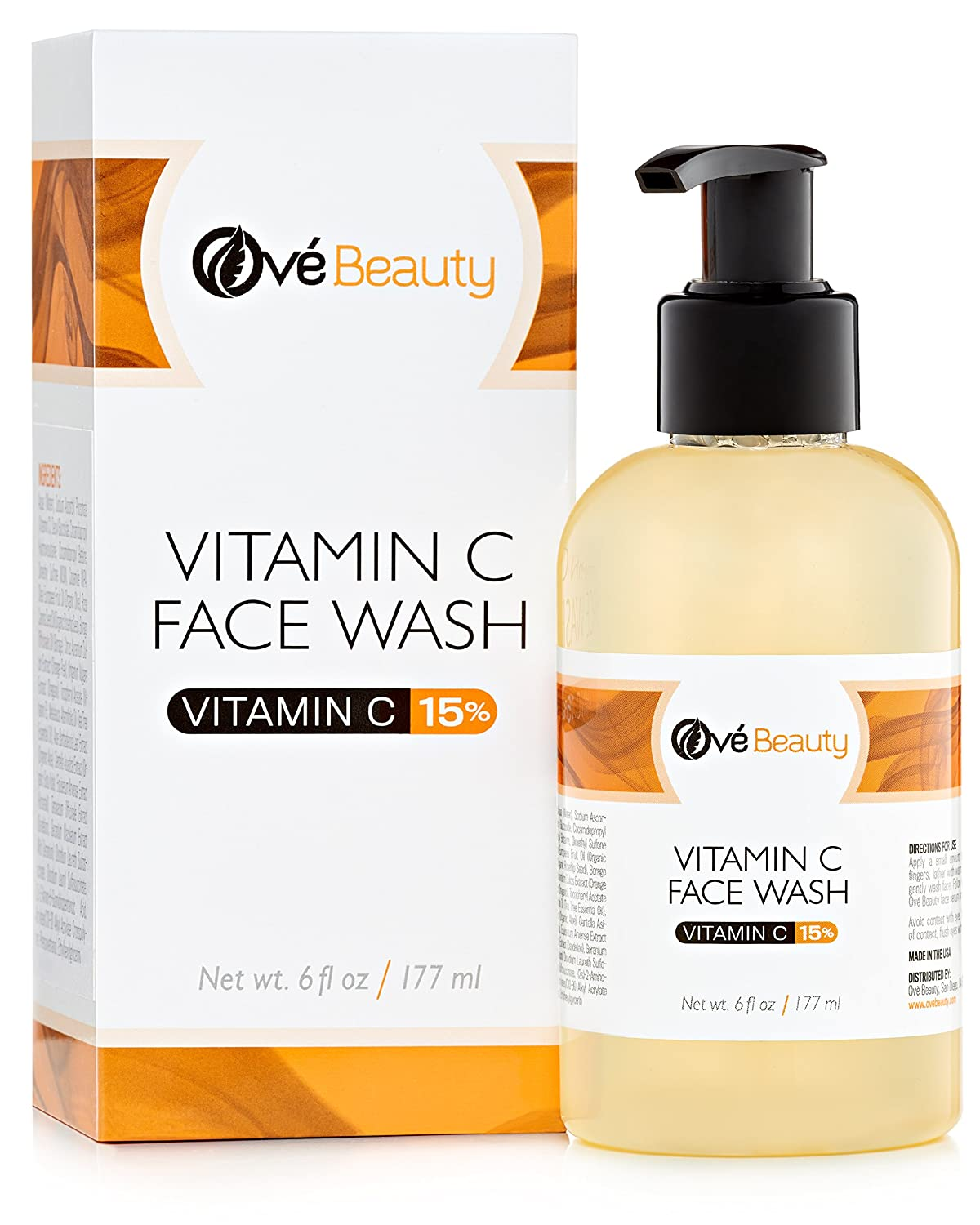 15% Vitamin C Face Wash 6 oz.-Best Daily Face Wash Cleanser