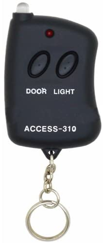 Simply Silver - 8 Digit Code Mini Remote Control Garage Door/Gate Transmitter w/ Mini Flashlite