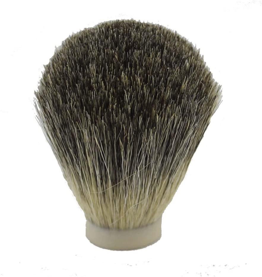 VIGSHAVING 20mm Diameter Grey Pure Badger Hair Shaving Brush Knot