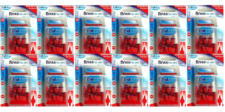 Endekay Interdental Flossbrush Red 0.50mm (Pack 12)