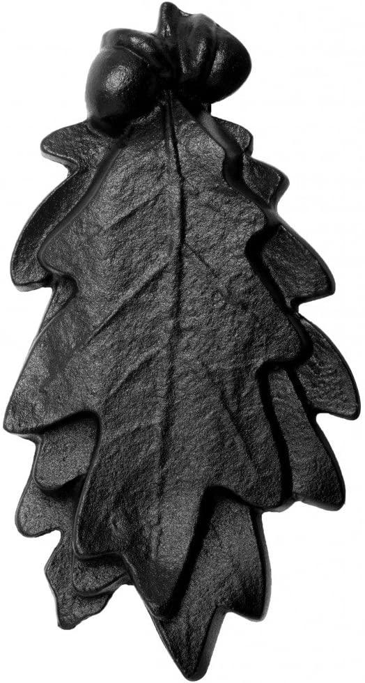 Renovator's Supply Door Knocker Black Cast Iron Oak Leaf 6 Inch X 3 Inch