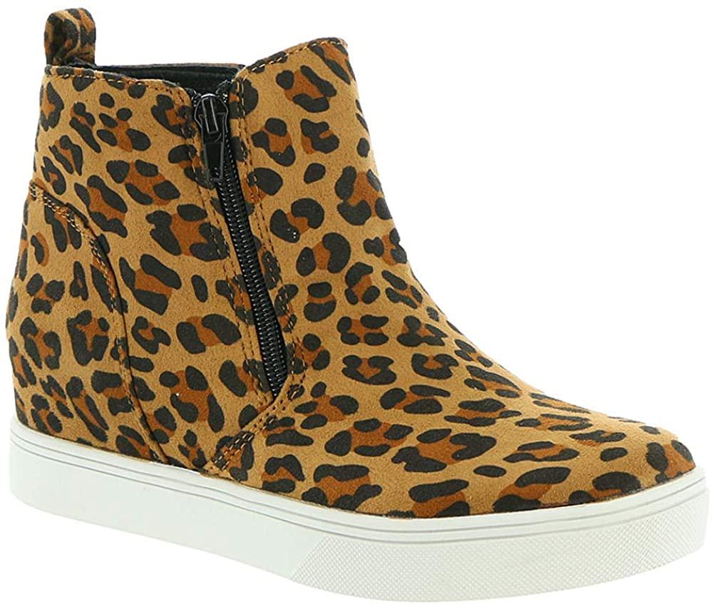Corkys Footwear Womens Hunt Leopard Wedge Casual 6 Multi