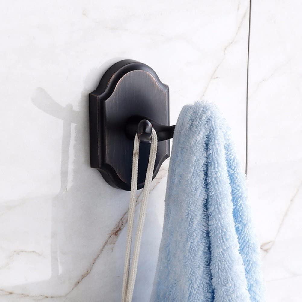 WAWZJ Robe Hooks European Style Single Hook Solid Black Creative Hanger