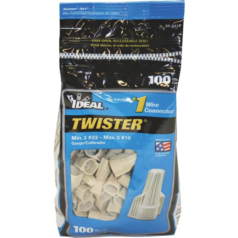 100Pk Tan Twist Wing Nut