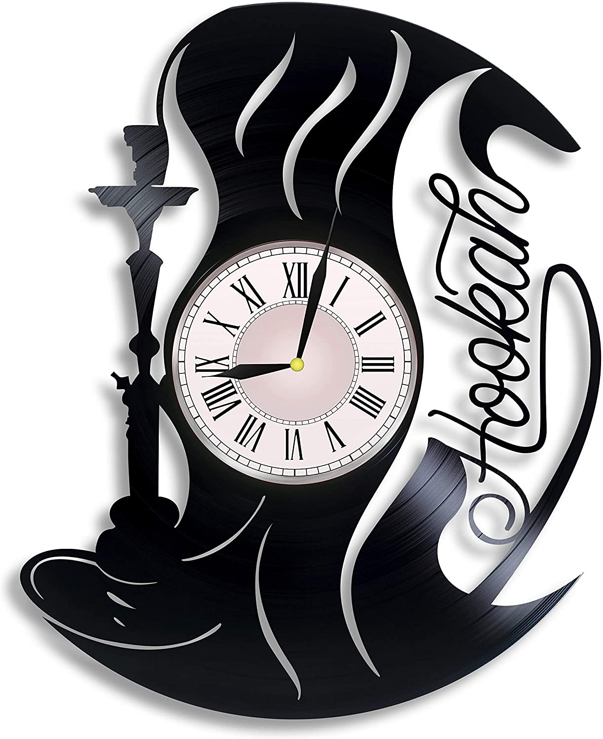 Hookah Lovers Vinyl Wall Clock, Hookah Lovers Gift for Any Occasion