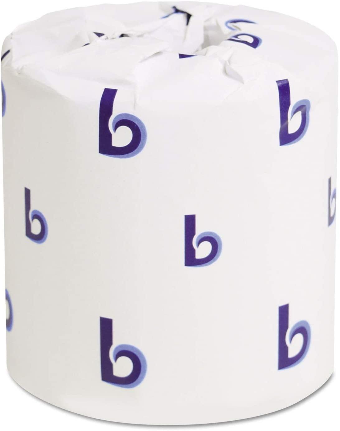 Boardwalk 6155 Two-Ply Toilet Tissue, White, 4 1/2 x 4 1/2 Sheet, 500 Sheets/Roll, 96 Rolls/CT