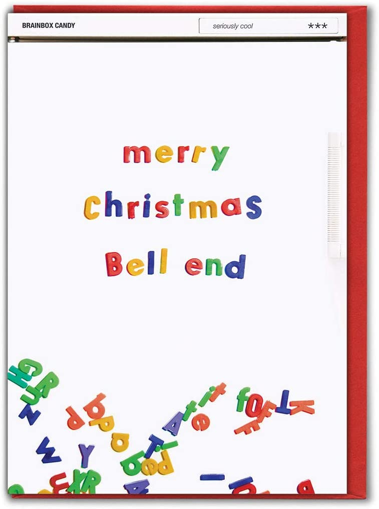 Brainbox Candy Funny Rude Humorous 'Merry Christmas Bell End' Xmas Card