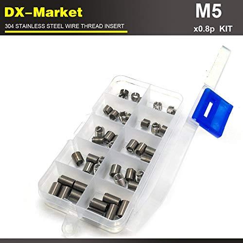 Ochoos m50.8P, 100pcs, 1d 1.5d 2D 2.5d 3D Each 20pcs Metric Thread Repair Insert kit, 304 Thread Series Wire Thread Inserts T0118