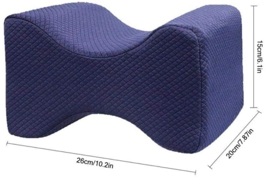 HEEGNPD Leg Pillow Resilience Memory Foam Knee Support Pillow Pregnancy Relief Sciatic Pain for Sleeping Leg Pillow for Side or Back Sleepers,L
