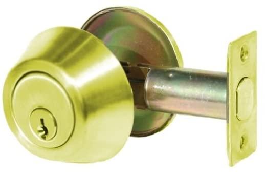 TACO DL-DB251-US3 DB200 Series Trans Atlantic Single Cylinder Grade 3 Deadbolt in Bright Brass