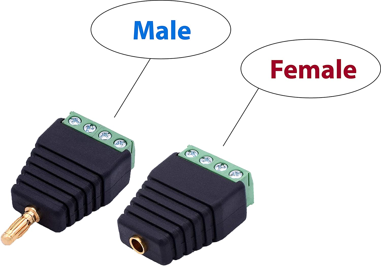 4.0mm Banana Terminal Adapters (5 Male + 5 Female = 10pcs)