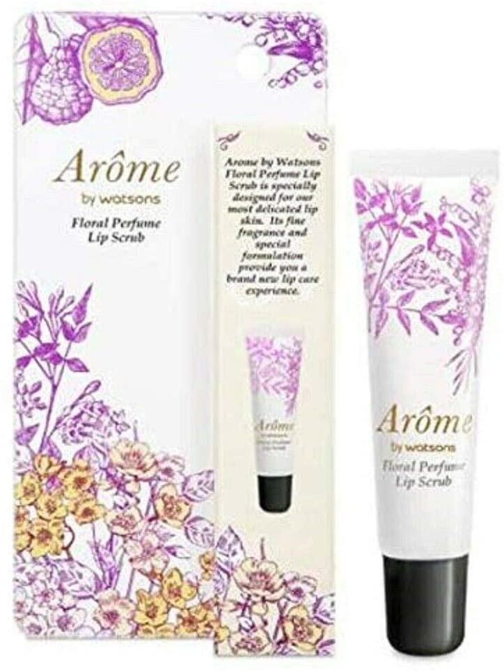 AROME by WATSONS Floral Perfume Lip Scrub 13g-Removing Dead Skin & Smooth The Appearance