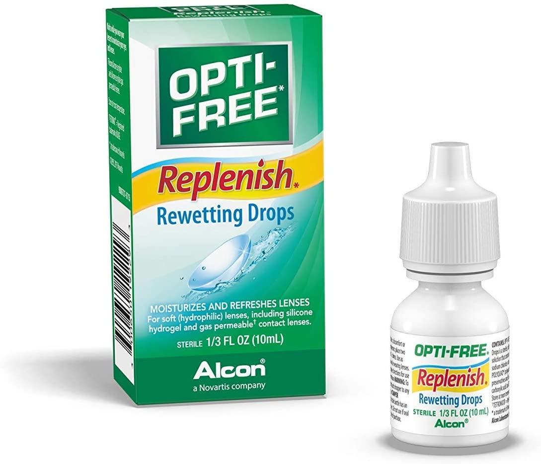 OPTI-FREE RepleniSH Rewetting Drops 10 mL (Pack of 2)