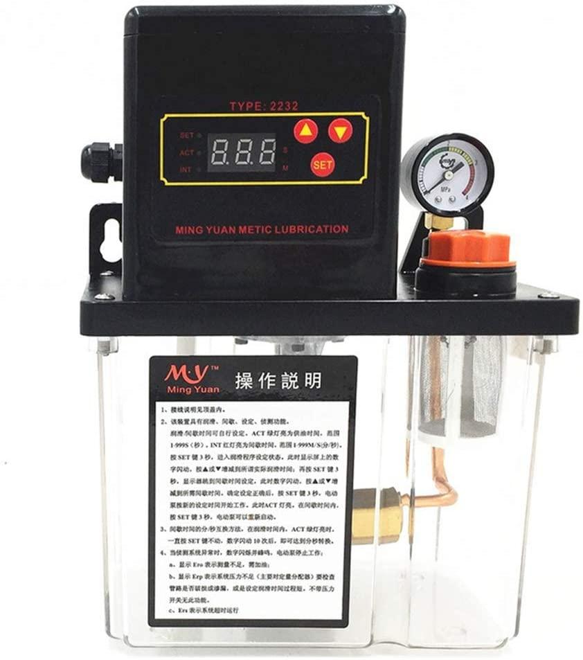 Auto Lubrication Pump 2Liter 2L CNC Digital Electronic Timer 110V or 220V