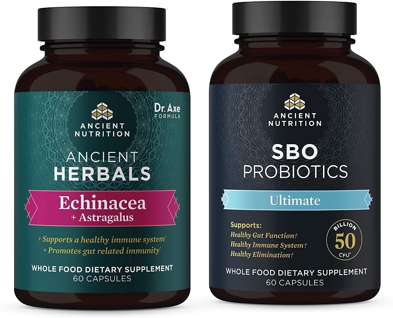 Echinacea + Astragalus and SBO Ultimate Probiotic Bundle