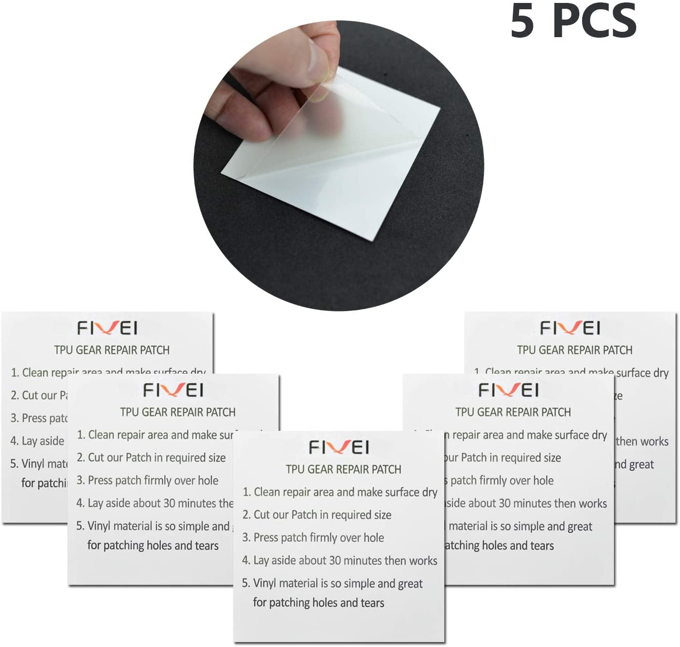 Repair Patch for Swimming Pool of Air Mattress TPU Self-Adhesive Plastic Patches for Inflatable Products