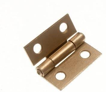 6 of Butt Hinge Door Box EB Brass Plated Steel 25Mm 1 Inch + Screws