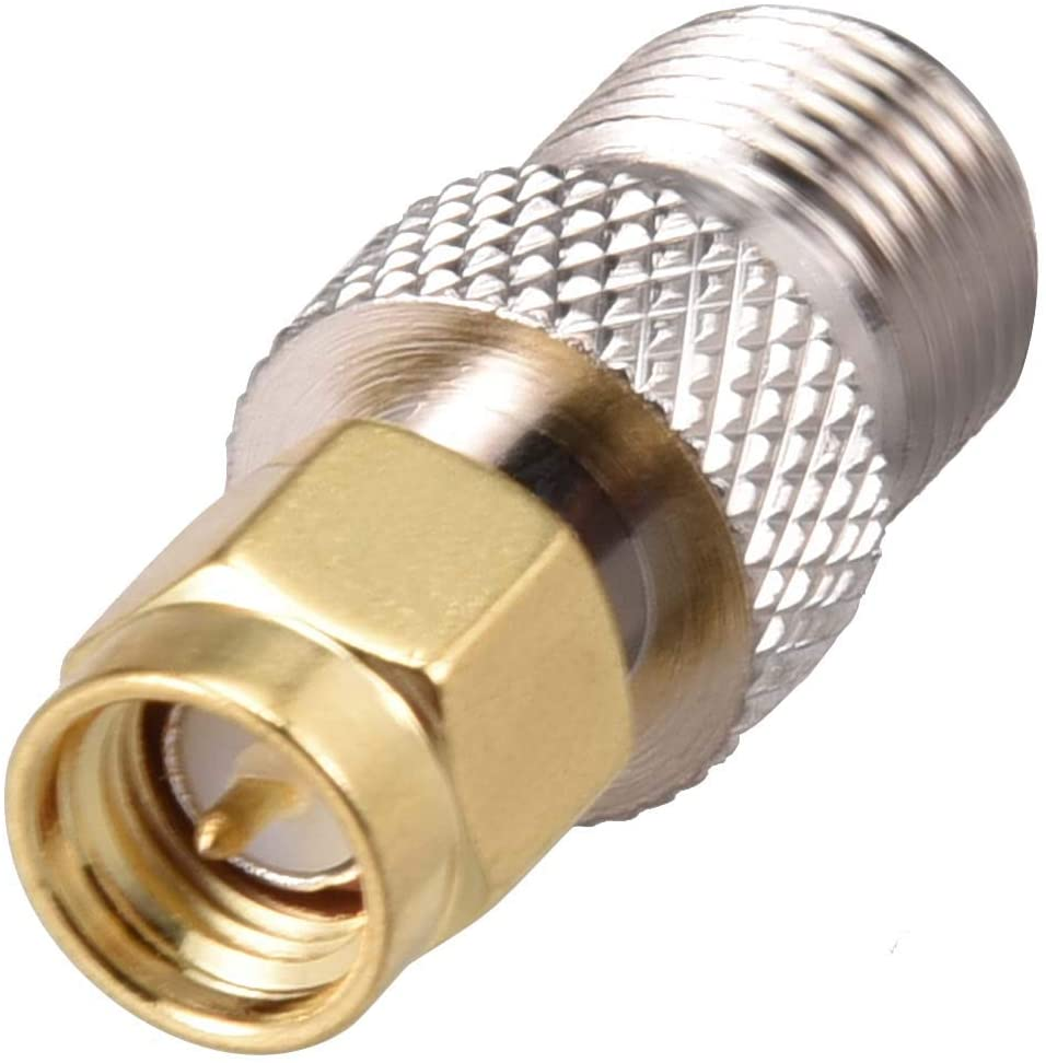 uxcell SMA Male to F Type Female Brass Tone Coaxial Cable RF Connector Adapter