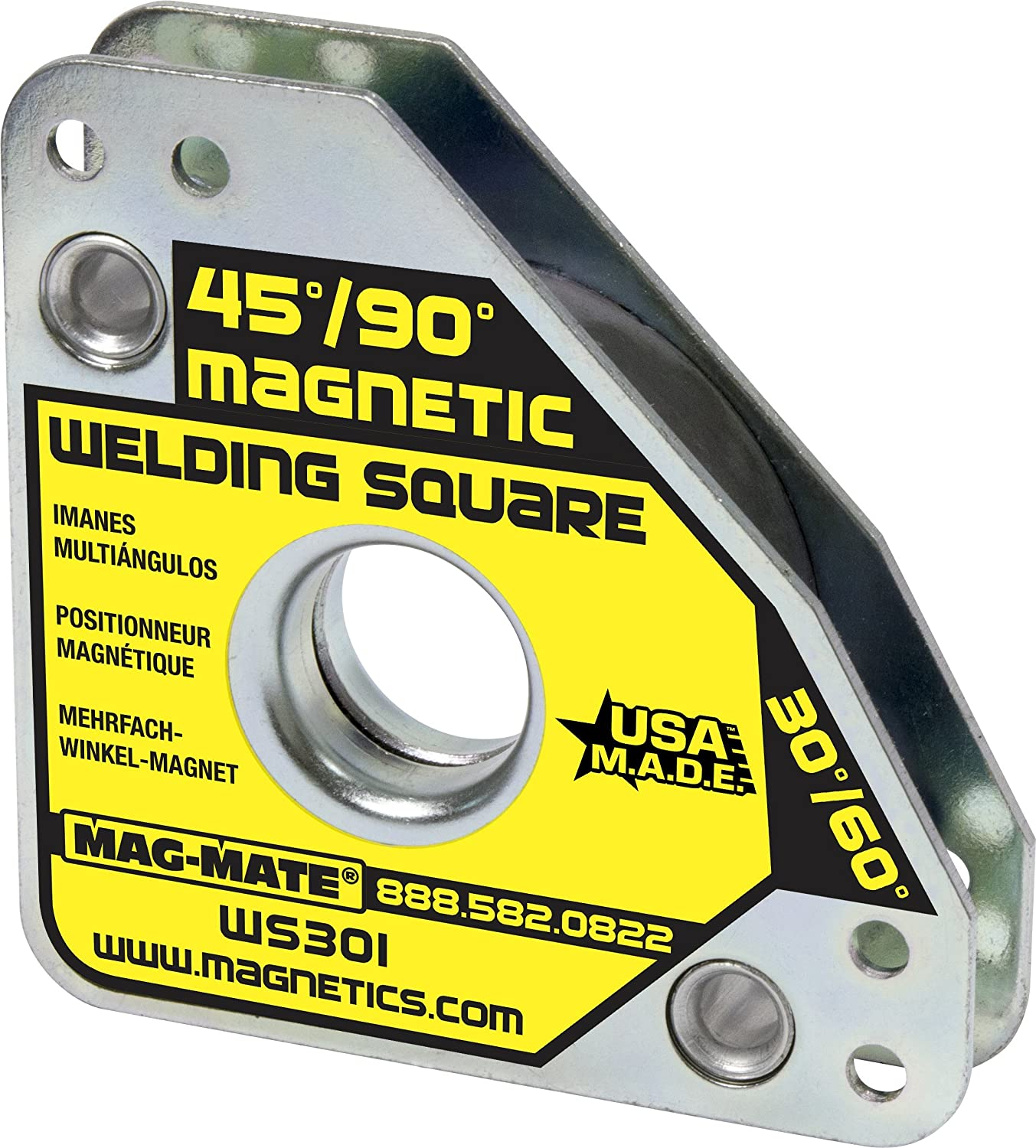MAG-MATE WS301 Compact Multi Angle Magnetic Welding Square with 55 lb Capacity