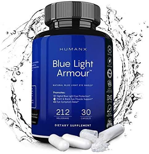 Blue Light Supplement - Lutein Blue Light Supplement - Eye Guard Lutein Supplement - Astaxanthin Supplement - Zeaxanthin Supplement - Eye Health Supplement - Vision Supplement - HUMANX