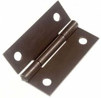 100 Pairs Butt Hinge (Door Cupboard) Steel Self Colour 50Mm 2 Inch