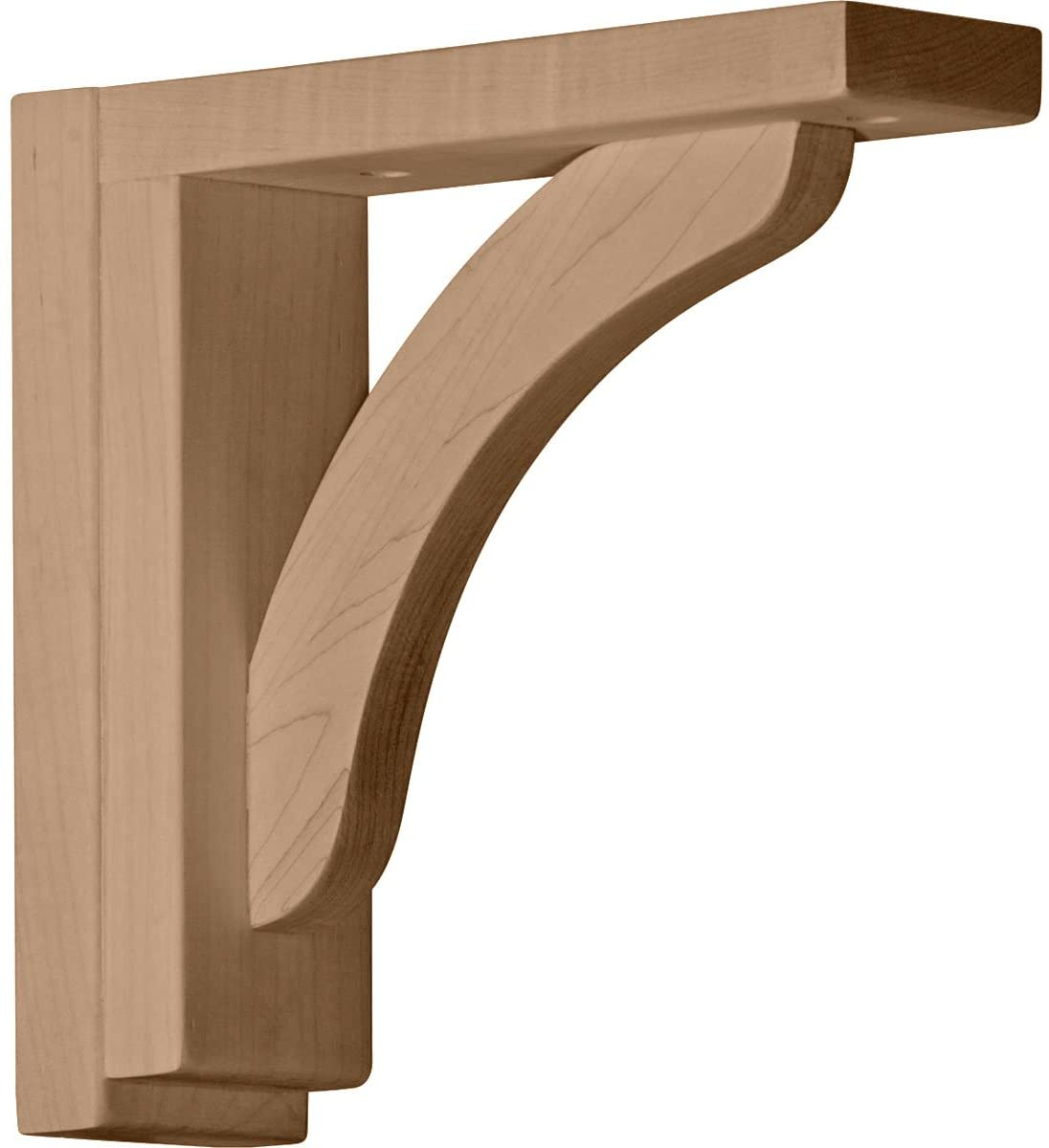 Ekena Millwork BKT02X08X08RERW-CASE-4 Reece Shelf Bracket, Rubberwood - Ready to be Stained