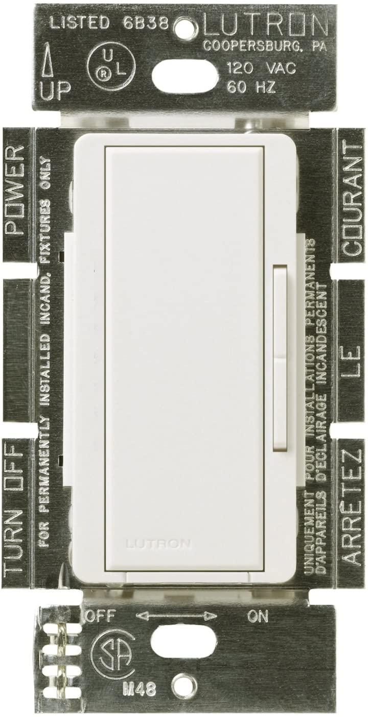 Lutron MALV-600-WH LIGHTING DIMMER, 1 Pack, White