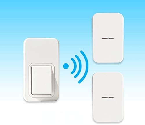 No Battery Required Wireless Doorbells,Self-generating Power Electric Doorbell Old Man Pager Long Range Door Chime Kit-B